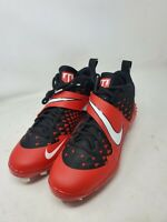 Nike Air Force Zoom Trout 6 UNIVERSITY BRED RED BLACK WHITE SZ 10 AT3464 602 MC