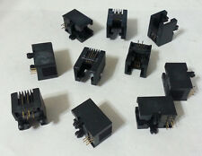 Modular Jack Connector CAT3 RJ11 6P4C 6POS/4Contact 1Port FCI 87180-064 NEW 10pc
