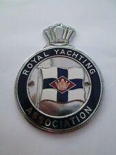 More details for vintage royal yachting association enamel car badge