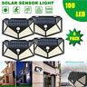 100 LED Solar Power PIR Motion Sensor Waterproof Wall Light Outdoor Garden Lamp~