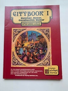VTG 1982 RP Game - Flying Buffalo Citybook I - Butcher, Baker, Candlestick Maker