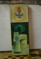 """Vintage 1981 Anheuser Busch Natural  Florescent Light Sign 33.5"""" Tall"""