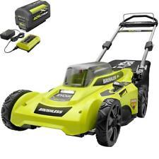 "Ryobi Cordless Battery Walk Behind Push Lawn Mower 20"" 40-Volt Brushless"