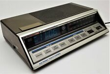 Vintage General Electric Alarm Clock Radio  With Battery Backup 7-4663A Clean