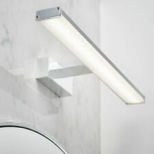 LED Bathroom Over Mirror Designer Wall Light Chrome Effect  IP44 8W W: 40cm