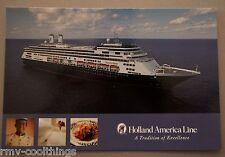 POST CARD HOLLAND AMERICA AMSTERDAM CRUISE SHIP MAIL POSTAL 2005 HAL 30702223 NM
