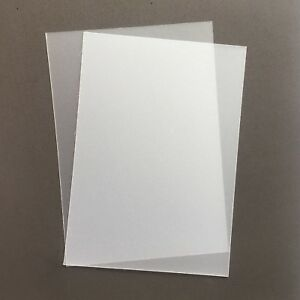 A5 Frosted Acetate 300 Micron x 5 Sheets - Clear Flexible Polypropylene Plastic