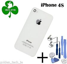 For iPhone 4S Back/Battery Cover Glass Plate Replacement White New With Tools