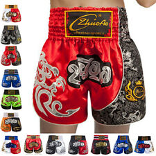 Muay Thai Kick Boxing Shorts Satin Grappling Cage Fighting Pants Gym Trunks Mma