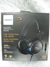Philips SHL3265 Headphones with mic 40-mm drivers High-impact bass SHL3265 Blue