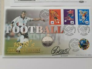 GB QEII COIN COVER  Football France 1998 1F  signed Sol Campbell Benham
