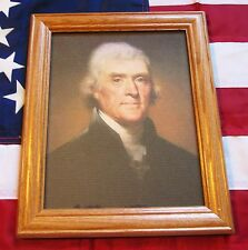Framed Painting, Portrait of Thomas Jefferson on Canvas, Rembrandt Peale 1800