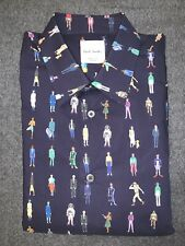Paul Smith PEOPLE PRINT Men's Cotton Shirt. M