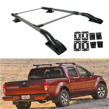 Fits 05 17 Nissan Frontier Cross Bar Oe Style Roof Rack Rail Black Cap Fits 2011 Nissan Frontier