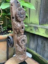 More details for antique hand carved indian wood furniture fragment stand architectural folk art
