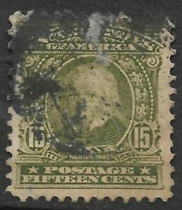 Sc #309 15 Cent Regular 1901-03 Spacefiller US 1D6