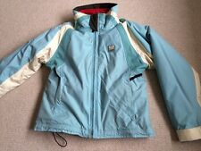 Quiksilver Roxy Ladies Ski Jacket Baby Blue Removable Red Fleece Lining Size 4