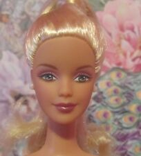 Gorgeous COLLECTOR Mackie Face Barbie Doll, Platinum Blonde Hair Nude OOAK EUC