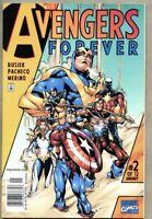 Avengers Forver #2-1999 vf 8.0 Marvel HTF Newsstand Variant cover