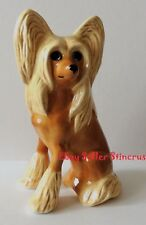 Chinese Crested dog. Author's Porcelain figurine + Gift Box. NEW