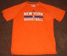 NBA Knicks Orange Climalite Short Sleeve T Shirt L 2015