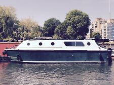 Green electric boat London + car, liveaboard, houseboat, solid GRP cruiser
