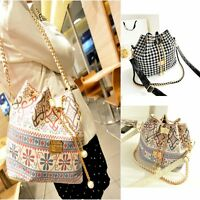 Womens Ladies Handbag Hobo Drawstring Shoulder Bag Tote Satchel Messenger Purse