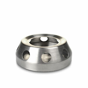 1 x Stainless Steel Teapot Warmer Round Shape Candle Base Trivets for Coffee Tea
