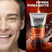 Newly Arrived Men Fashion Face Wash Blackheads Oily Skin Foam Facial Clea Gift
