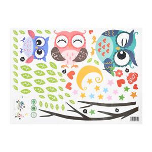 Cartoon Animal Owl Wall Sticker Kid Room Wallpaper Decals Home Decor Waterproof