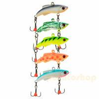 """Metal Hard Fishing Lure 1.7"""" Treble Hooks Jig Head Saltwater Bass Trout Walleye"""