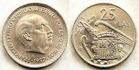 Estado Español - 25 Pesetas 1957*66 Madrid. EBC/XF. Niquel. 8,5 grs. PERFECTA