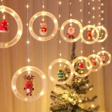 LED Lichterkette Ringförmige Vorhang Girlande Licht Innen Außen Weihnachtsdeko