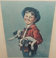 NORMAN ROCKWELL DAVE GROSSMAN LIMITED EDITION COLOR LITHOGRAPH WITH C.O.A.