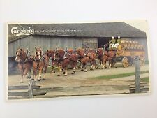 Carlsberg Brewery Horse Team Drawn Beer Wagon Denmark Souvenir Booklet Brochure