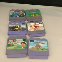 Vtech VSmile Game Lot 6 Cartridges Elmo Dora Shrek Blue's Clues Scooby Doo Zay