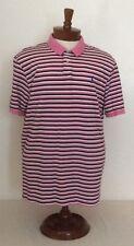Ralph Lauren Polo Golf Mens 2Xl Pro Fit Pink Stripe Golf Polo Shirt Short Sleeve