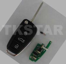 3 Tasten 8P0837220D ID48 Fernbedienung Funk Schlüssel 434Mhz für Audi A3 Sportba