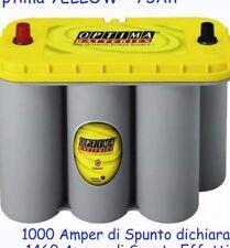 Batteria optima yellow 75ah 975 Amper Di Spunto Dichiarato 1460 Amper Di Spunto