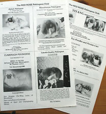 PEKINGESE TOY DOG BREED KENNEL CLIPPINGS x 40 1970s
