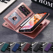 For Samsung Note20 S20 Ultra FE S10 S9 Plus Case Leather Wallet Cards Flip Cover