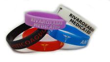 5X RIVAROXABAN Medicated Wristband Medical Awareness Alert Bracelet Glow in DARK