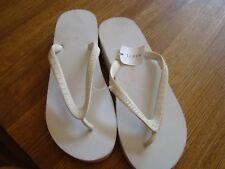 J Crew White Flip Flops, Women's Size 9, Old school original rubber wedge