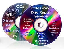 DISC REPAIR SERVICE 3 Discs DVD, CD, Blu-ray, Wii PS XBox 360 Scratch Removal