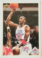 1991-92 UPPER DECK BASKETBALL Michael Jordan All-Star Checklist Card NM Bulls