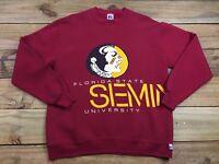 VTG 80's 1984 Florida State Seminoles Crewneck Sweatshirt L Russell Athletic FSU