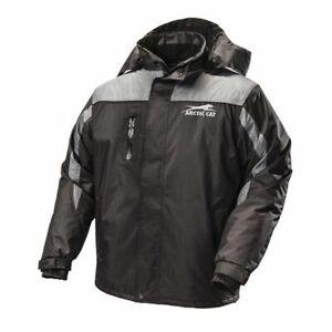 New Men's Arctic Cat Storm Jacket - Black/Gray- L - #5271-644
