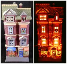5609 Park Avenue Townhouse Lighted 1989 Dept 56 Box 59781 Christmas In City Art