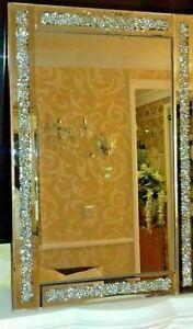 loose diamond diamante gems crushed jewell mirror 60x40cm lounge bedroom bling