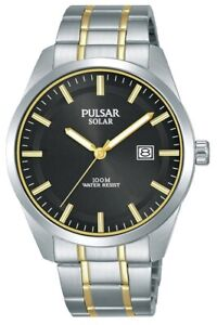 Pulsar Gents Solar Powered Dress Watch PX3169X1 NEW